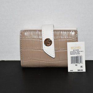 Michael Kors MK Charm Small Tab Card Case  Truffle